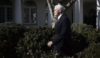 U.S. Vice President Mike Pence at the White House, Washington, D.C., January 19, 2018.