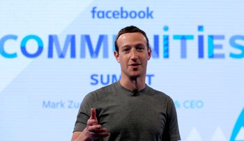 File photo: Facebook CEO Mark Zuckerberg in Chicago on June 21, 2017