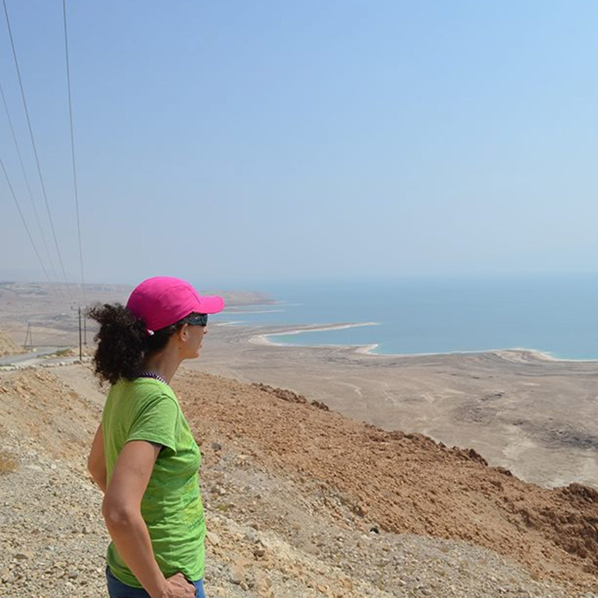 Lamont geochemist Yael Kiro views the Dead Sea. She led a study showing that sediments drilled from under the sea's bed indicate regional rainfall plummeted tens of thousands of years ago.