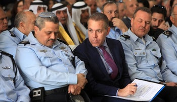 Minister of Public Security Gilad Erdan speaks to Police Commissioner Roni Alsheich on Jan 16, 2018
