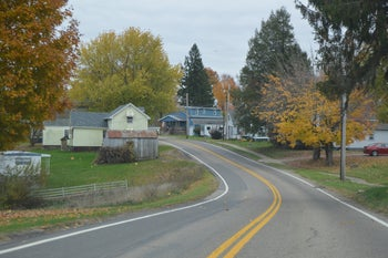 A road winding through the township of Jerusalem, Ohio