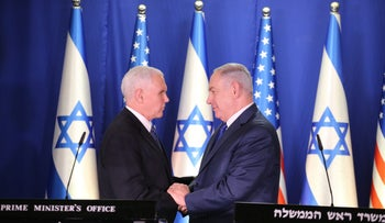 U.S. Vice President Mike Pence and Prime Minister Benjamin Netanyahu in Jerusalem, Jan 22, 2018