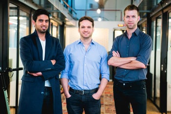 The heads of D-ID, a Tel Aviv startup that has built tools to block unauthorized facial-recognition algorithms from reading photos and videos