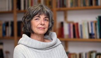 """Esther Peled, this year's recipient of the Sapir Prize for Literature for her book """"Widely Open Underneath."""""""