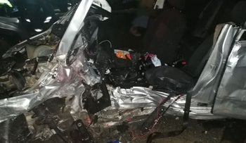 A serious car accident in the northern West Bank killed one Israeli and one Palestinian, injuring nine others on January 23, 2018.