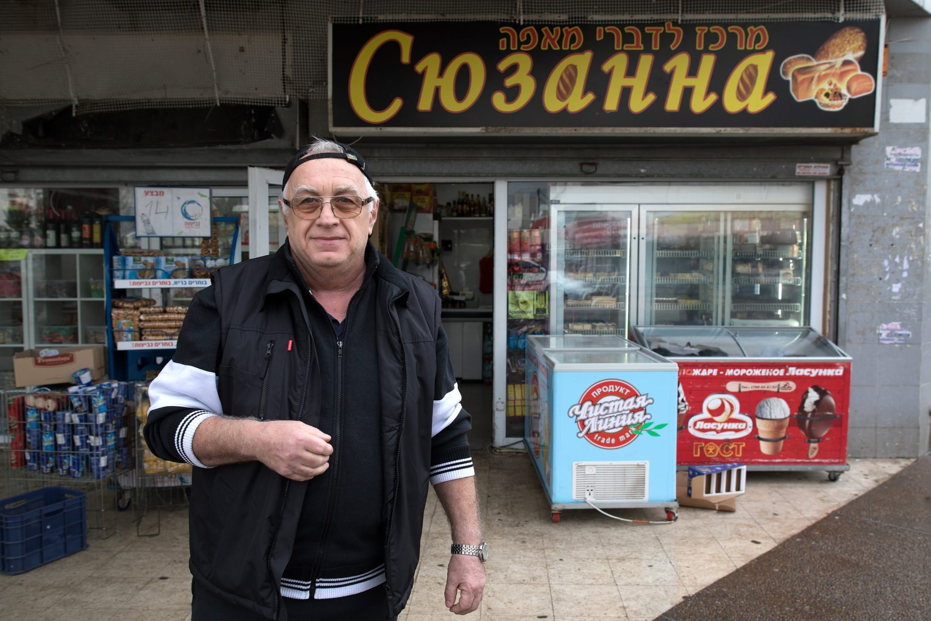 """Igor Pyatkovsky in the Yud Gimel neighborhood of Ashdod, January 24, 2018. """"Nobody is going to tell me what I can do and when I can do it."""""""