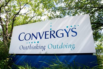 A logo sign outside of a facility occupied by the Convergys Corporation in Erlanger, Kentucky.