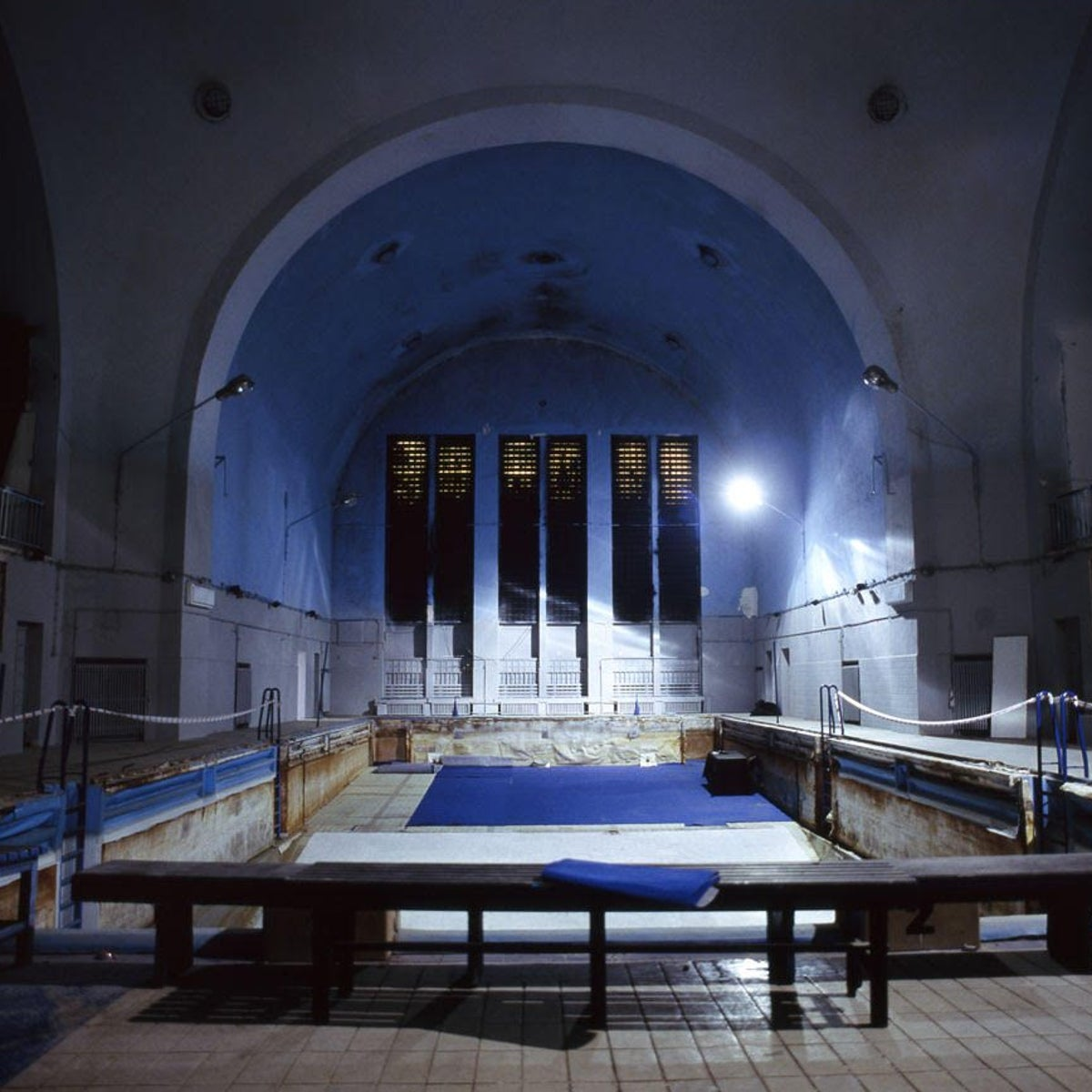 A former synagogue in Poznań, Poland, which the Nazis converted into a swimming pool.