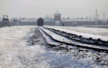 The Auschwitz-Birkenau concentration and extermination camp. January 27, 2014
