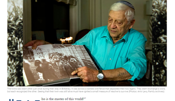 Faces of women Holocaust survivors faces were blurred in an article on ultra-Orthodox weekly newspaper Mishpacha published on January 24, 2017.