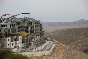 Israeli construction in Ma'aleh Adumim, in 2016.