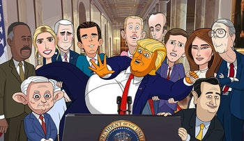 'Our Cartoon President.'