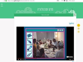 A screenshot from the lesson on candles that included a video about lighting Shabbat candles.