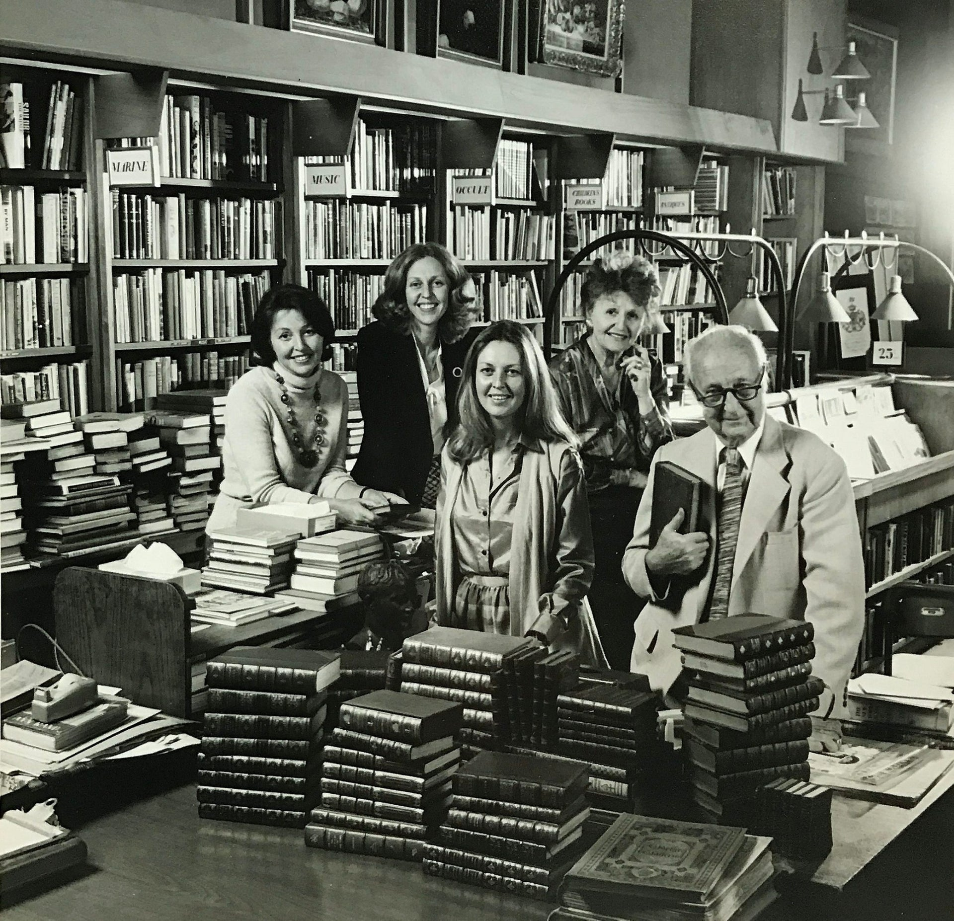 The bookstore was founded in 1925 by Louis Cohen, who ran the family business with his three daughters, Judith, Naomi, and Adina, and his wife Ruth.