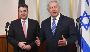 Prime Minister Benjamin Netanyahu meets German Foreign Minister Sigmar Gabriel, January 31, 2018.