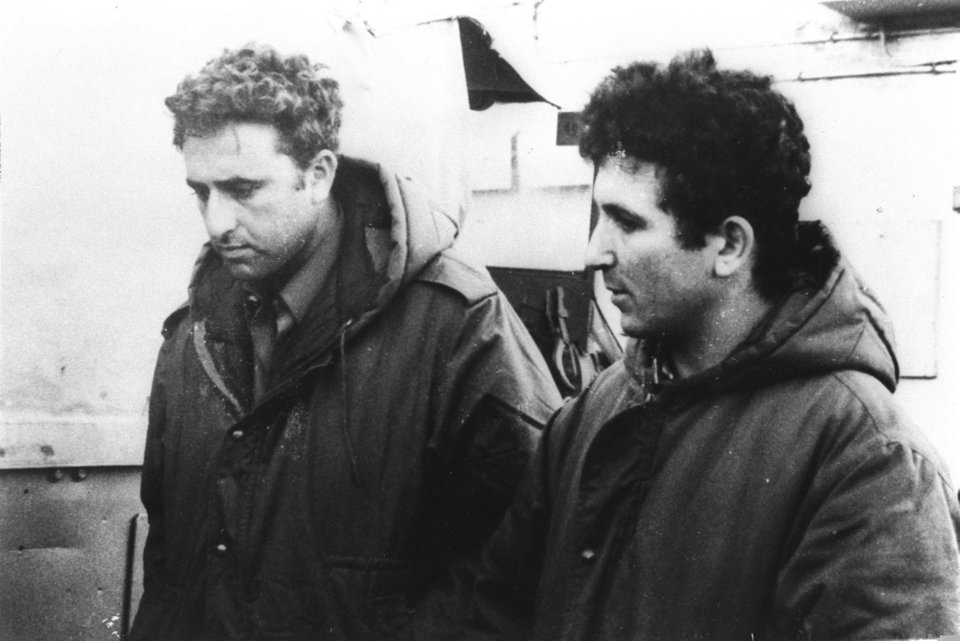 Ehud Barak, right, and Amnon Lipkin-Shahak when they were commandos in the Israel Defense Forces in the mid-1970s.