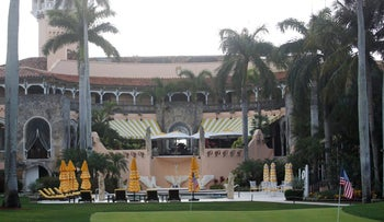 File photo: U.S. President Donald Trump's Mar-a-Lago estate in Palm Beach, Florida.
