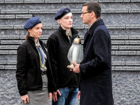 Poland's Prime Minister Mateusz Morawiecki visits the Ulma Family Museum of Poles Who Saved Jews during WWII in Markowa, Poland on February 2.