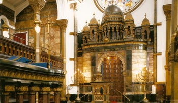 The New West End Synagogue in London.