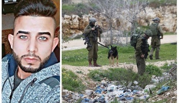 Ais Abed El-Hakim, the terrorist behind the stabbing attack outside Ariel that left Itamar Ben Gal, 29, dead February 5, 2018