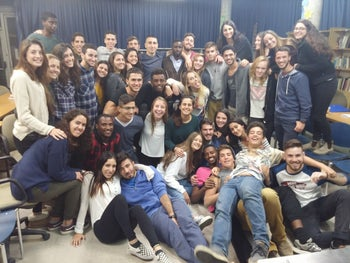 Usumain Baraka  (seventh from the left) with group of friends from his high school days at Yemin Orde Youth Village.