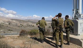 Israeli soldiers on the Syrian border in November 2017.