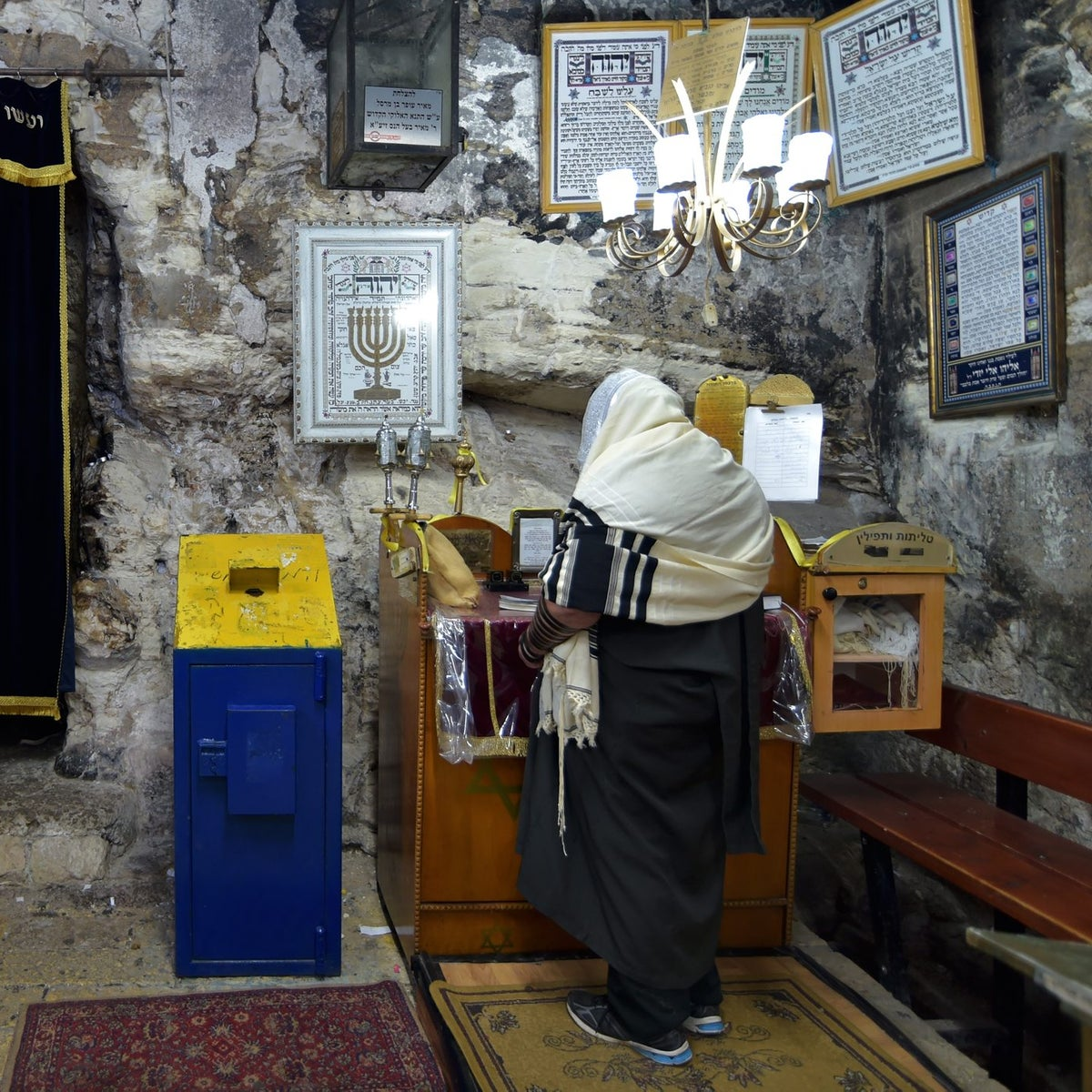 Elijah's Cave in the northern Israeli city of Haifa.