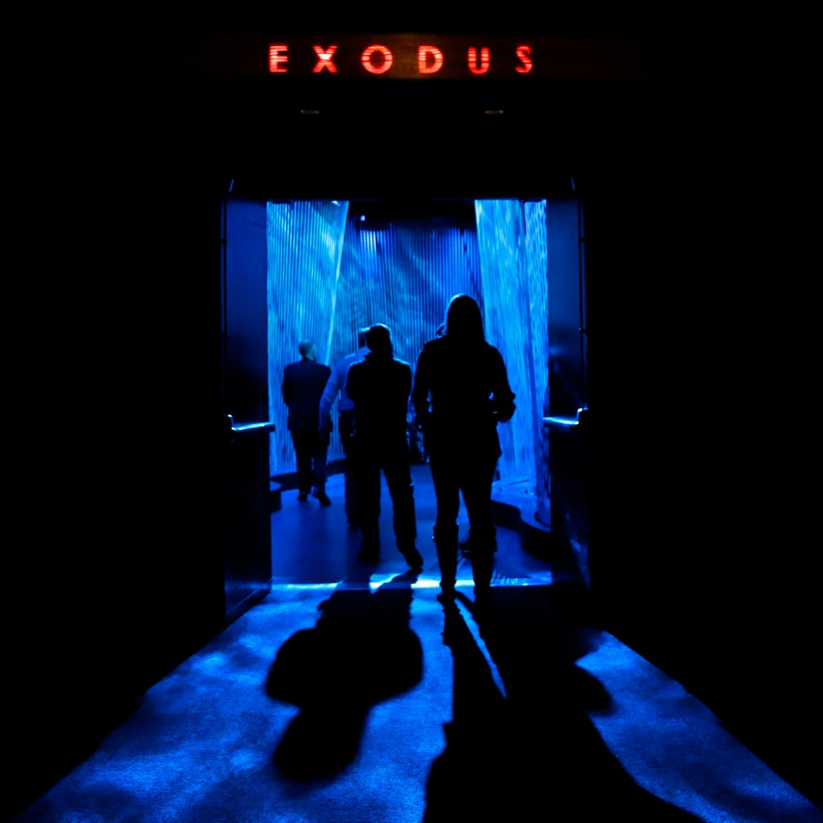 "A door opens to the ""Exodus"" section inside the Museum of the Bible in Washington. The project is largely funded by the conservative Christian owners of the Hobby Lobby crafts chain."