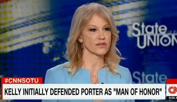 Kellyanne Conway to Jake Tapper: You could be a wife beater like Rob Porter
