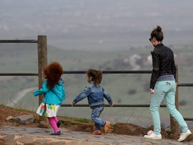 Touring the Golan Heights on February 10, 2018.