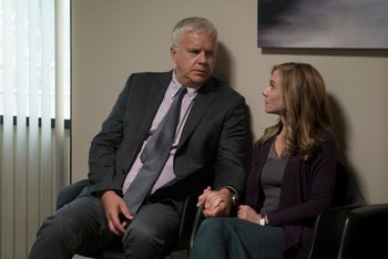 Tim Robbins and Holly Hunter in Alan Ball's HBO series 'Here and Now'.