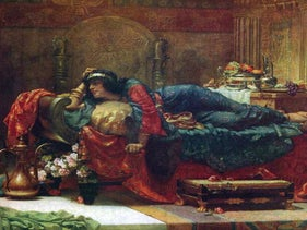 """""""Queen Vashti Deposed"""" (1890) by Ernest Normand."""