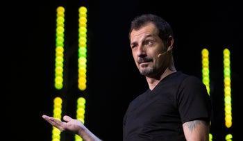 Stand-up comedian-actor Adel Karam, performing in Beirut, Lebanon. The recording of his show is the first Netflix production from the Middle East.