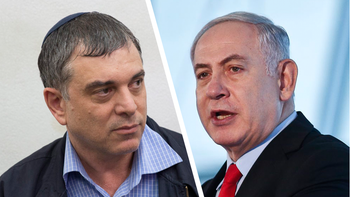 Prime Minister Benjamin Netanyahu, right, and Shlomo Filber, left, one of Netanyahu's closest allies.