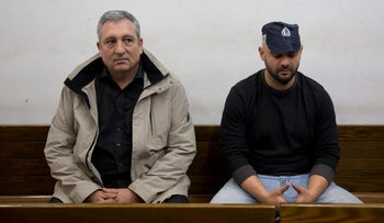 Nir Hefetz in the Tel Aviv Magistrate's Court, February 18, 2018.