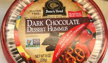 Boar's Head's contribution to the dessert hummus section.