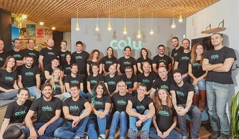 Employees of Colu, a company that has create a mobile app that serves as a wallet for digital currencies.
