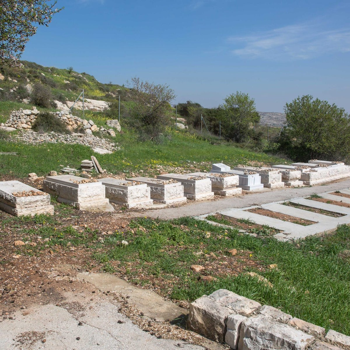 The cemetery at the Psagot settlement in the West Bank.
