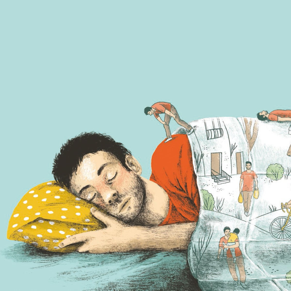 Illustration: A sleeping man