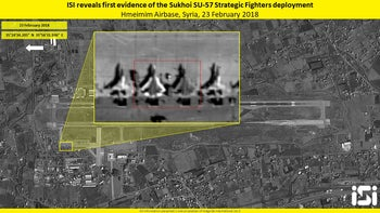 Russia's Su-57 stealth figthers in Syria, revealed by Israeli satellite/ ImageSat