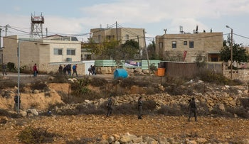 Houses slated for demolition at the illegal West Bank outpost of Netiv Ha'avot.