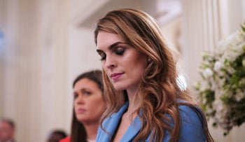 Former White House Communications Director Hope Hicks in the State Dining Room of the White House, February 21, 2018.