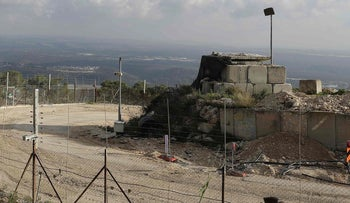 Lebanon's southern border town of Naqura on the border with Israel, south of Beirut.