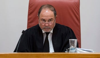 Justice Yoram Danziger on the bench in 2014.