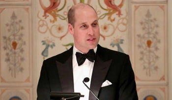 Britain's Prince William delivers a speech at a dinner in the royal palace in Oslo, Norway on February 1, 2018.