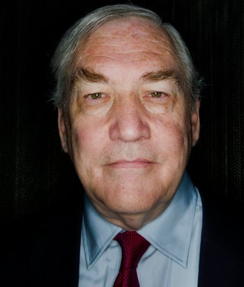 Conrad Black, former chief executive officer of Hollinger Inc., stands for a photograph in Toronto, Ontario, Canada, on Wednesday, July 31, 2013.
