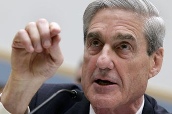 Then-FBI Director Robert Mueller testifying before a House Judiciary Committee hearing on Capitol Hill in Washington, June 2013.