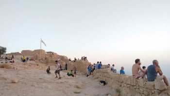 Visitors to the Masada National Park near the Dead Sea, southern Israel. Another popular site that has become a nightmare for visitors, according to Israeli tour guides.