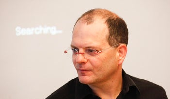 Gil Shwed, CEO of Check Point Software Technologies, at Third quarter financial reports in Tel Aviv on October 17, 2012.