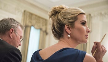 Ivanka Trump, assistant to U.S. President Donald Trump, listens to remarks during the American Technology Council roundtable hosted at the White House in Washington, D.C., U.S., on Monday, June 19, 2017